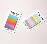 design colorido do arco-íris scrapbooking notas auto-adesivos