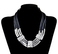 Lureme®Fashion Four Wax rope Alloy Necklace