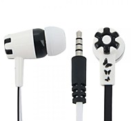 Butterfly and Flower Pattern In-ear Earphones with Microphone