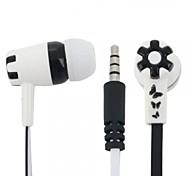 Schmetterling und Blumenmuster in-Ear-Ohrhörer mit Mikrofon