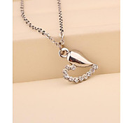 Fashion Korea White Cute Heart  Necklace for Women in Jewelry Gift