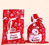 2pcs de haute qualité cadeaux de bande dessinée Santa Claus sacs (de façon aléatoire)