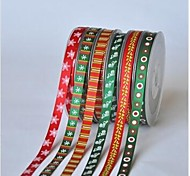 3/8 Inch Christmas Series Rib Ribbon Printing Ribbon- 25 Yards Per Roll (More Colors)