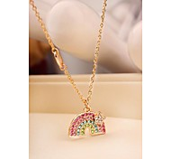 Fashion Rainbow Alloy Necklace for Women in Jewelry Gift