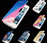 7 impresiones en color cuero de la PU caso de cuerpo completo para iphone 5 / 5s (color clasificado)