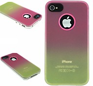 TPU+PC Two in One Rose/Yellow Gradient Back Cover Case for iPhone 4/4S
