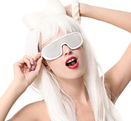 Cool Ladygaga White Mesh Glasses Party Accessory