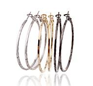 Lureme®Simple Style Loops  Earrings Set(3 Pairs Per Set)