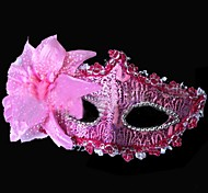 Flower Decorated Halloween Mask (3pcs, Random Colour)