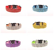 Leopard Highlight Night Safety LED Flash Collar for Dogs(Assorted Size,Assorted Color)
