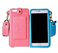 High Quality Neck Chain Leather with Card Slot Cover for iphone 6 Plus (Assorted Colors)