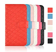 Angibabe Check Pattern Leather Cover with Card Slot for iPhone 6