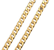 позолоченные несколько отверстий цепь цепь ожерелье мужчин с лобстером застежками