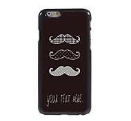 Personalized Case Mustache Design Metal Case for iPhone 6 Plus