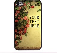 Personalized Gift Flower Design Metal Case for iPhone 4/4S