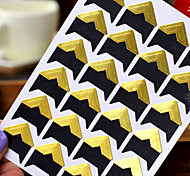 golden diy adesivo protetor de canto da foto (24 adesivos / pcs)
