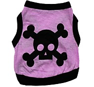 Cool Skull Pattern 100% Cotton Vest for Pets Dogs (Assorted Sizes)