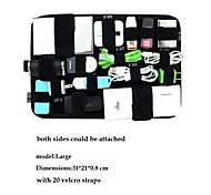 Velcro Organizer Board for iPhone Samsung Cables Earphone Accessories Document Hard Flash Drivers L Size