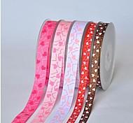 3/8 Inch Xinxin Company Pattern Rib Ribbon Printing Ribbon- 25 Yards Per Roll (More Colors)
