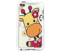 Pink Giraffe Leather Vein Pattern Hard Case for iPod touch 4