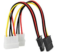 0.15M 0.5FT SATA 15Pin to Type D 4Pin IDE Serial Power Cable Multicolored 2 PCS Free Shipping