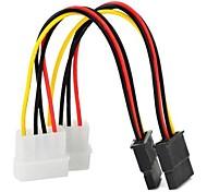 0.15m sata 15pin 0,5 pies para escribir d 4 pines cable de alimentación de serie ide multicolor 2 PC liberan el envío