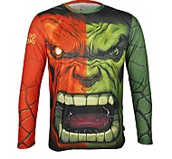Arsuxeo  Quick Drying  Long Sleeve Cycling Jersey Hulk