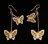 aretes de metal butterly de oro en caliente venta de moda