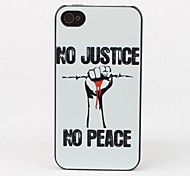 Justice Style Protective Back Case for iPhone 4/4S