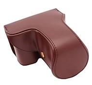 pajiatu® long style de lentille sac étui de protection en cuir PU appareil photo couverture pour Sony Alpha A6000 18-55 / 16-50mm ou 2,8 / 16 lentille