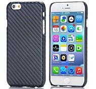 padrão de fibra de carbono couro revestido pc volta capa dura para iphone 6 (cores sortidas)