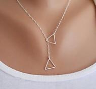 Frauen einfaches Dreieck Halskette