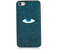 Eye Pattern Black Frame Back Case for iPhone 4/4S