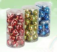 24 pcs decorações de natal penduradas bolas de galvanoplastia gota (φ = 8 centímetros)