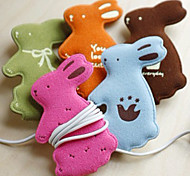 Cute Rabbit Cartoon Earphone Cable Wire Cord Organizer Cable Winder