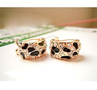 Love Is Your New Fashion Super Beauty ShanZuan Leopard Small Stud Earrings
