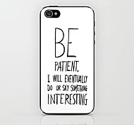 White Be Patient Pattern Hard Case for iPhone 4/4S