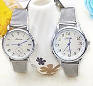 La montre de mode pure cadran rond en acier bande de quartz de quelques de quelques