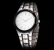 Herren-Business-Stil schwarze Gehäuse Stahl Band Quarz-Armbanduhr (farbig sortiert)