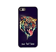 Personalized Case Head of Tiger Design Metal Case for iPhone 5/5S
