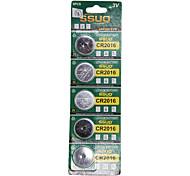 CR2016 3V Lithium Watch Battery 5PCS