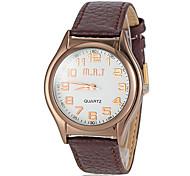 relógio de marcação simples pu banda de pulso de quartzo dos homens (cores sortidas)