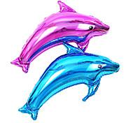 2 piezas de bienvenida al bebé de la membrana de aluminio playa del mar de delfines océano cumpleaños no.1 globo del partido