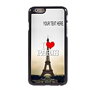 Personalized Case I Love Paris Eiffel Tower Design Metal Case for iPhone 6 Plus