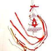 Noël suspendus longues 1 pc materiels MDF blanc de forme de bowknot de l'arbre pour les décorations de Noël