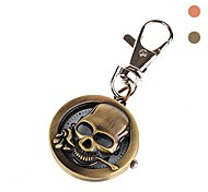 Unisex Alloy Analog Quartz Keychain Pocket Watch (Bronze) Assorted Colors