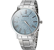 Men's Fashion Dial Silver Steel Band Quartz Wrist Watch (Assorted Colors) Cool Watch Unique Watch