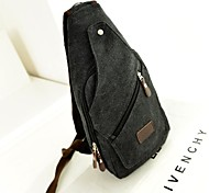 Outdoor Man's Fashional Black Canvas Shoulder Bag