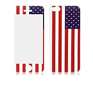 Angibabe USA Flag Front and Back Tempered Glass Screen Protector for iPhone 5/5S