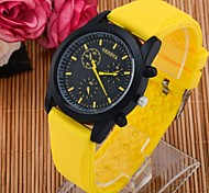 Men's Fashion Candy Silicone Quartz Sport Watches(Assorted Colors)